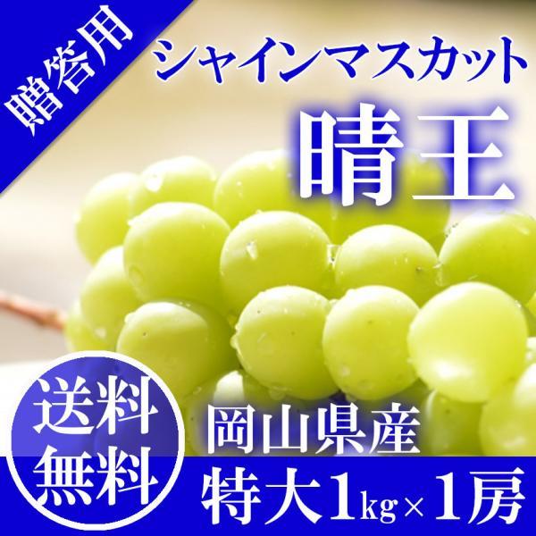 2021 ギフト 岡山県産 シャインマスカット 晴王 赤秀品 特大1房1kg以上 贈答用 葡萄 ブドウ ぶどう 敬老の日 フルーツ