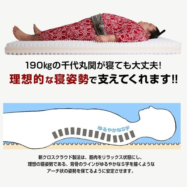 雲のやすらぎプレミアム 敷布団 腰痛 シングル ホワイト 日本製 高反発敷布団 体圧分散 防ダニ 防臭 あすつく 送料無料 ぶ厚さ17cm【公式】|ichibanboshi|10