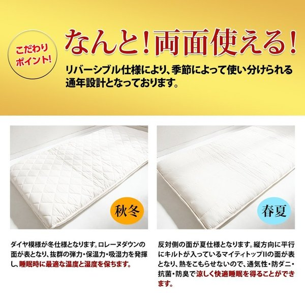 <雲のやすらぎプレミアム セミダブル2枚セット>敷き布団 敷布団 腰痛対策 肩こり 体圧分散マットレス 送料無料|ichibanboshi|18