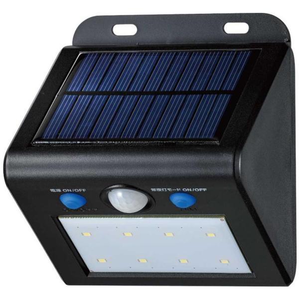 ELPA(エルパ) 屋外用 LEDセンサーウォールライト ソーラー発電式 白色 ESL-K101SL(W)(同梱・代引き不可)