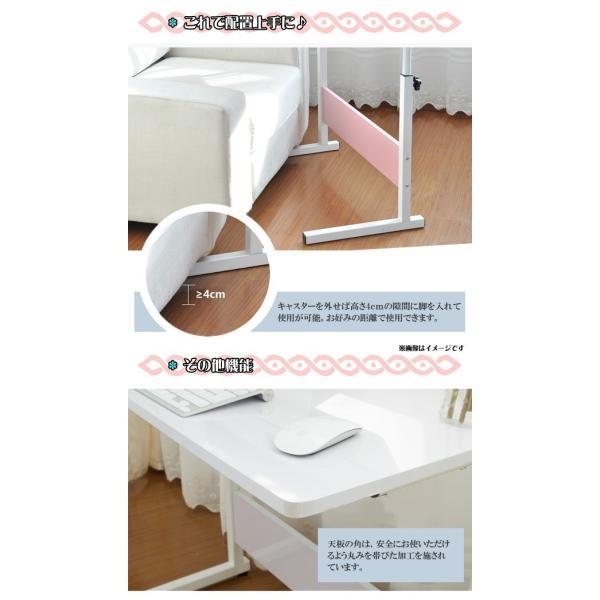 サイドテーブル 60cm ベッドサイドテーブル キャスター付 SunRuck サンルック  EA-ST01 ミニテーブル 簡単組み立て 補助 キャスター付|ichibankanshop|04