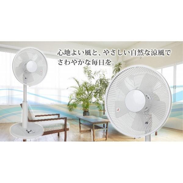 扇風機 30cm 安い リビング扇風機 リビングファン メカ扇風機 フラットタイプ TEKNOS 扇風機 ファン 首振り タイマーKI-1737-W|ichibankanshop|02
