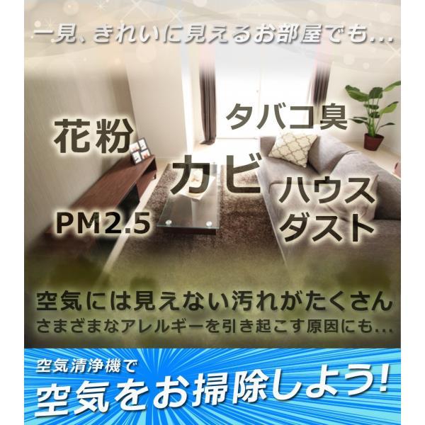 空気清浄機 おしゃれ デザイン 花粉 PM2.5 小型 マイナスイオン 空気質センサー Sunruck 13畳 HEPAフィルター搭載 PM2.5対応 SR-AC802-WH|ichibankanshop|02
