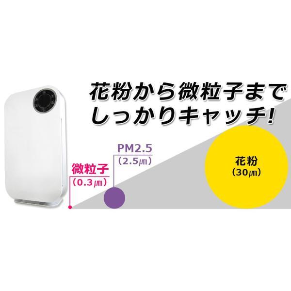 空気清浄機 おしゃれ デザイン 花粉 PM2.5 小型 マイナスイオン 空気質センサー Sunruck 13畳 HEPAフィルター搭載 PM2.5対応 SR-AC802-WH|ichibankanshop|07