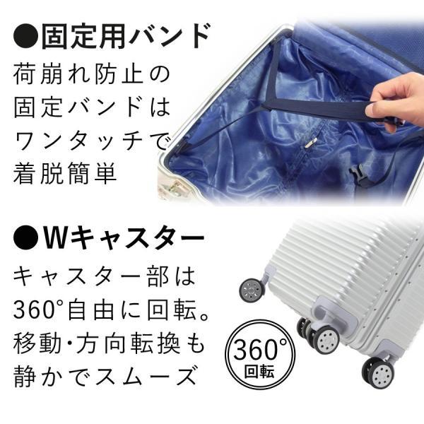 スーツケース 機内持ち込み Sサイズ 1〜3泊 28L アルミフレーム TSAロック ダイヤルロック ダブルロック 4輪 フレームタイプ 丈夫 SR-BLT816|ichibankanshop|11