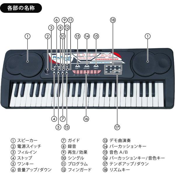 電子キーボード 電子ピアノ キーボード 49鍵盤 49キー PlayTouch49 楽器 初心者 入門用にも 本格派 和音伴奏 SunRuck サンルック SR-DP02 ブラック|ichibankanshop|18