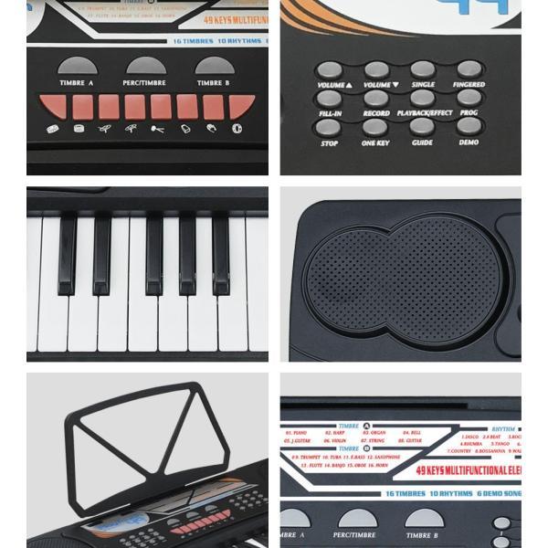 電子キーボード 電子ピアノ キーボード 49鍵盤 49キー PlayTouch49 楽器 初心者 入門用にも 本格派 和音伴奏 SunRuck サンルック SR-DP02 ブラック|ichibankanshop|06