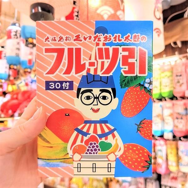 【くいだおれ太郎 フルーツ引】大阪 お土産 人気 かわいい 駄菓子 懐かしい 飴 飴ちゃん キャンディー 期間限定