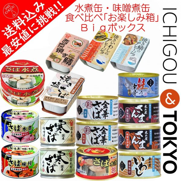 缶詰 食べ比べ お楽しみ箱 BIG ichigou-sake 02