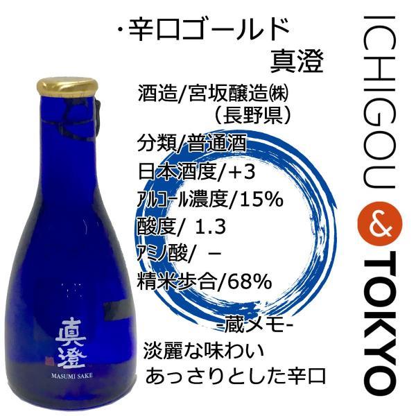 日本酒 普通酒 辛口ゴールド 真澄 180ml|ichigou-sake|02