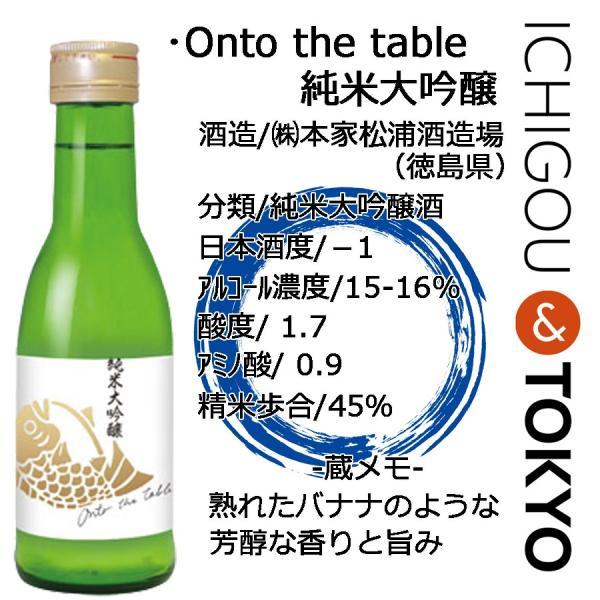 日本酒 純米大吟醸 鳴門鯛 Onto the table オントゥ・ザ・テーブル 180ml ichigou-sake 02
