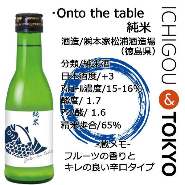 日本酒 純米 鳴門鯛 Onto the table オントゥ・ザ・テーブル 180ml ichigou-sake 02