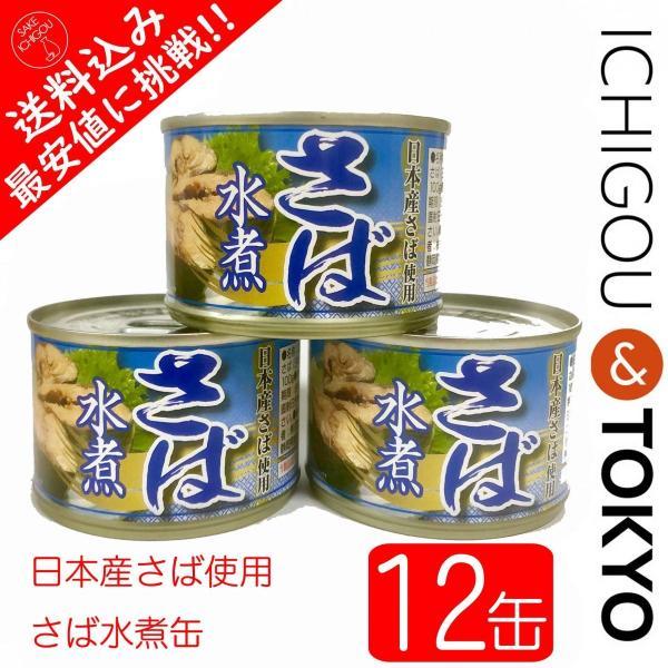 さば水煮缶 国産原料 12個セット|ichigou-sake