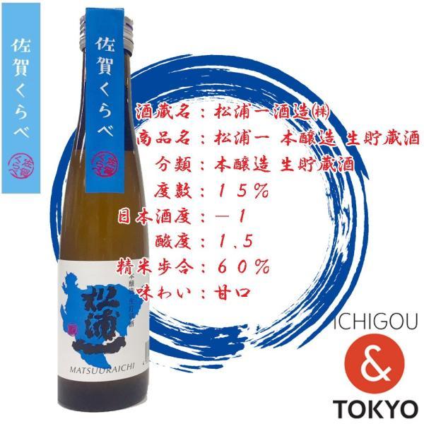 日本酒 松浦一 本醸造 生貯蔵酒 180ml|ichigou-sake|02