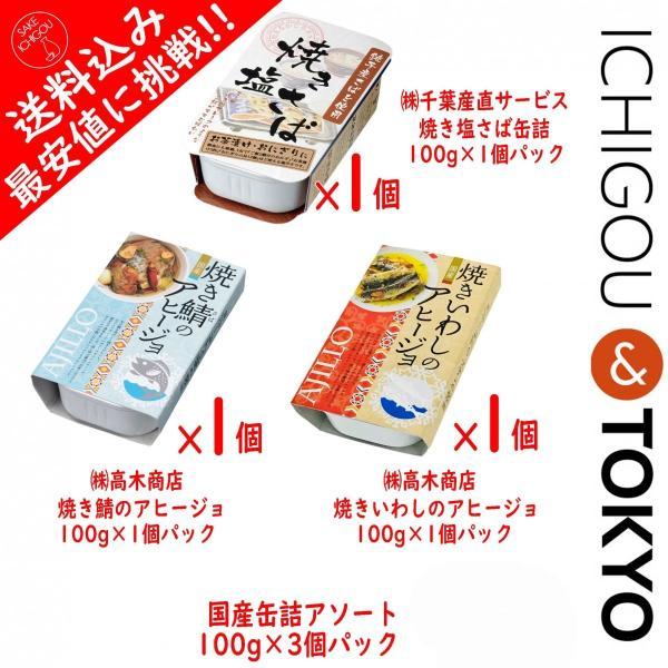 送料込 最安値 鯖缶 いわし缶 3個セット 缶詰 アヒージョ|ichigou-sake