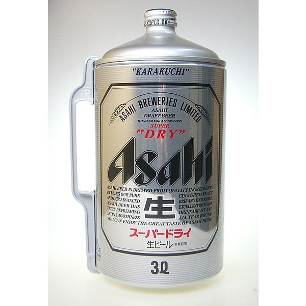 アサヒ スーパードライ ミニ樽 アルミ 3000ml 3L【6個まで1個口配送可能】 ichiishop