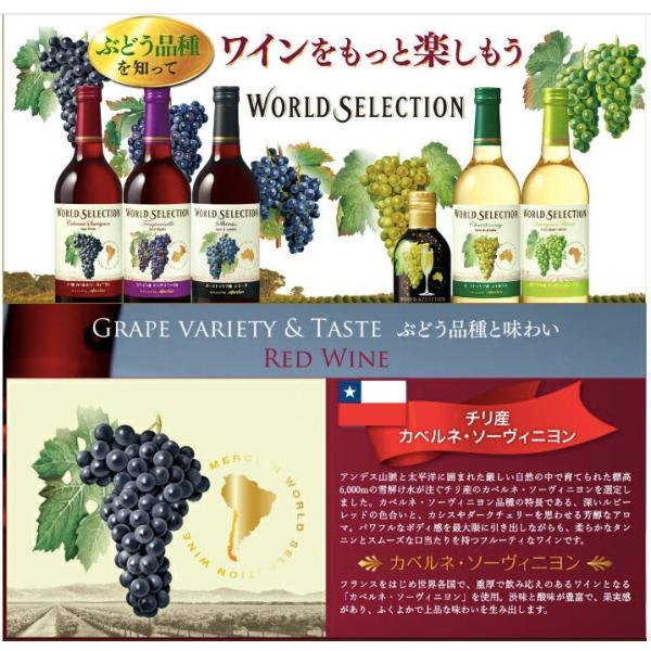 ワイン品種別飲み比べセット 720ml×5本 ワールドセレクション メルシャン WORLD SELECTION ichiishop 02