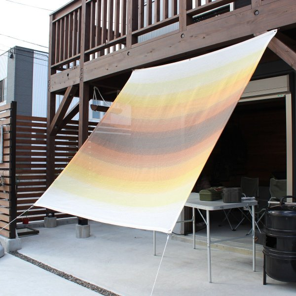 おしゃれな日よけ イチオリシェード   グラデーション サンセット       目かくし サンシェード|ichiori-inc|02