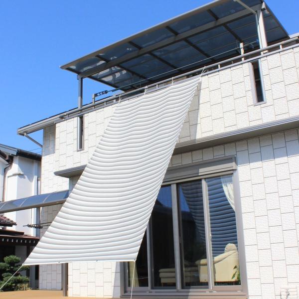 おしゃれな日よけ イチオリシェード   大型  クラウド 遮光4mロングタイプ 目かくし サンシェード|ichiori-inc