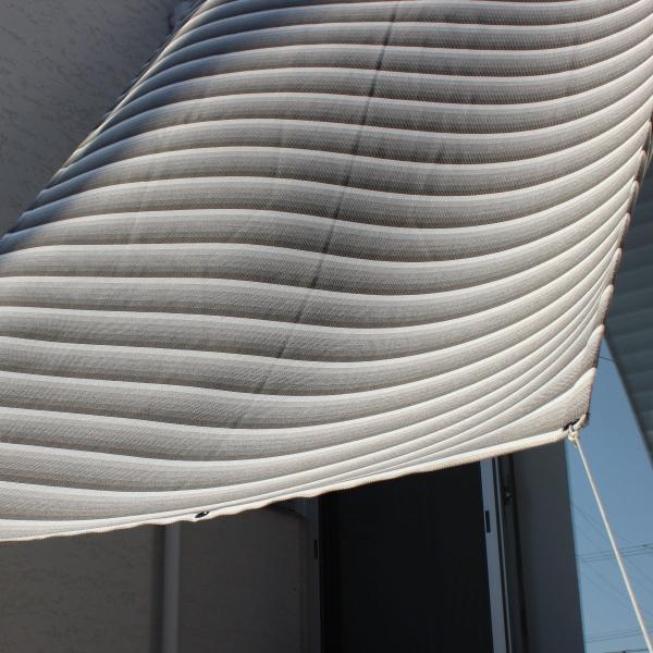 おしゃれな日よけ イチオリシェード   大型  クラウド 遮光4mロングタイプ 目かくし サンシェード|ichiori-inc|02