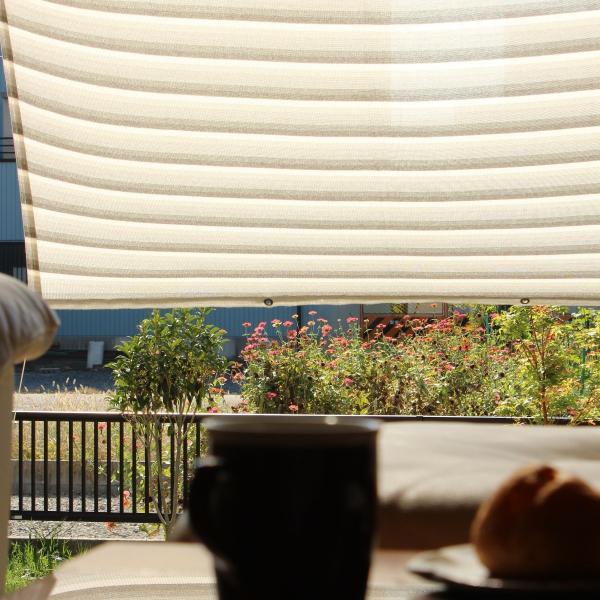 おしゃれな日よけ イチオリシェード   大型  クラウド 遮光4mロングタイプ 目かくし サンシェード|ichiori-inc|06
