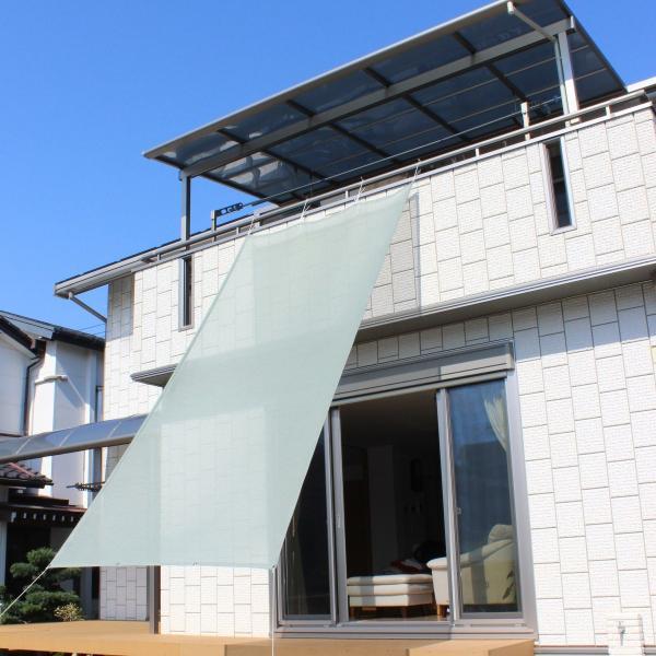 おしゃれな日よけ イチオリシェード   大型  グリーン 遮光4mロングタイプ 目かくし サンシェード|ichiori-inc