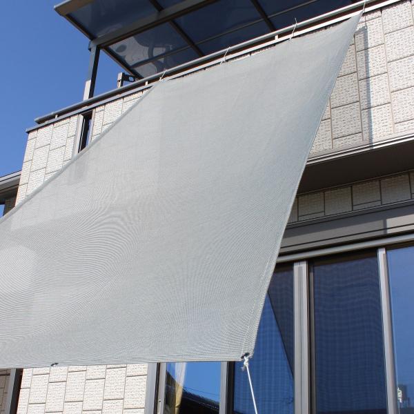おしゃれな日よけ イチオリシェード   大型  グリーン 遮光4mロングタイプ 目かくし サンシェード|ichiori-inc|04