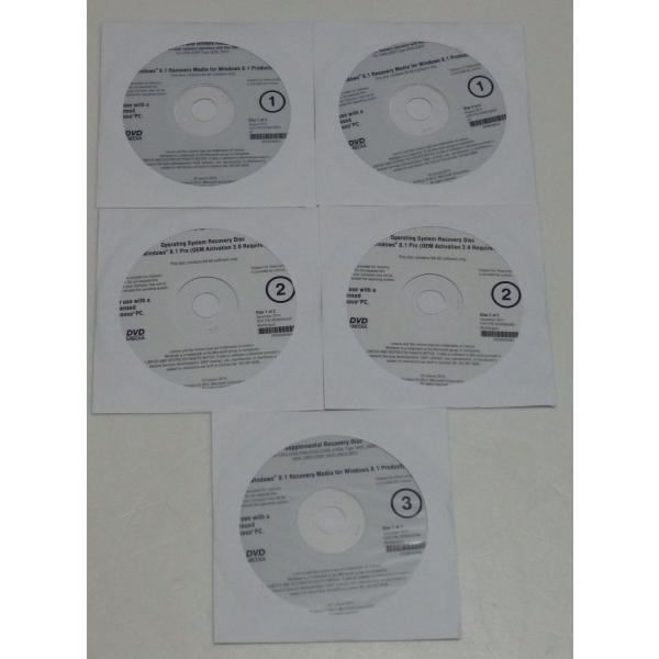 LENOVOE455,E555Type20DE,20DH等用Windows8.1Pro64bitリカバリーディスクセットクリック