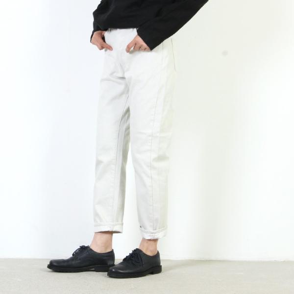 Ordinary Fits (オーディナリーフィッツ) 5POCKET ANKLE DENIM white one wash / 5ポケット アンクルデニム ホワイト|icora
