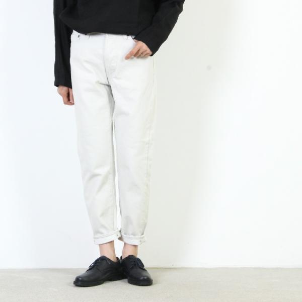 Ordinary Fits (オーディナリーフィッツ) 5POCKET ANKLE DENIM white one wash / 5ポケット アンクルデニム ホワイト|icora|02