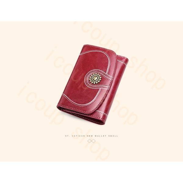 レディース 財布 本革  短財布 紙幣入れ カード入れ  小銭入れ 軽量 ショートウォレット マルチカードケース スナップボタン  婦人財布 ギフト プレゼント