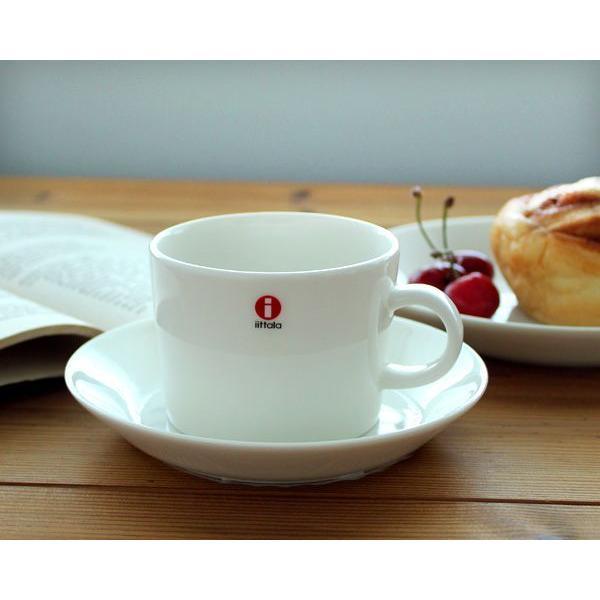 イッタラ iittala ティーマ ホワイト 7253/7248 ティー/コーヒー兼用カップ&ソーサー 220ml|ideale