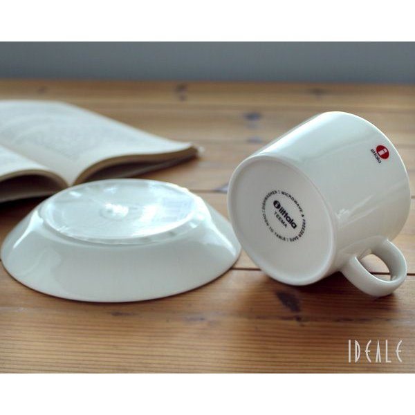 イッタラ iittala ティーマ ホワイト 7253/7248 ティー/コーヒー兼用カップ&ソーサー 220ml ideale 02