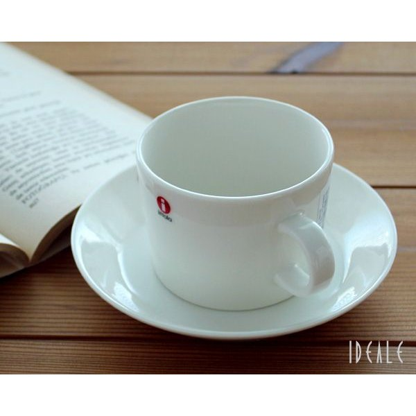 イッタラ iittala ティーマ ホワイト 7253/7248 ティー/コーヒー兼用カップ&ソーサー 220ml ideale 03