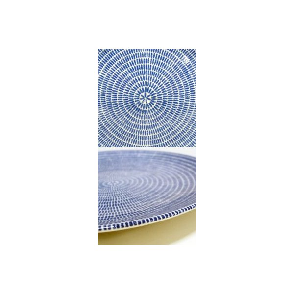 <2枚セット>アラビア ARABIA 24h Avec(アベック) 8284 プレート/お皿 20cm ブルー×ブルー (2枚セット)ペア 【復刻盤】 ideale 02