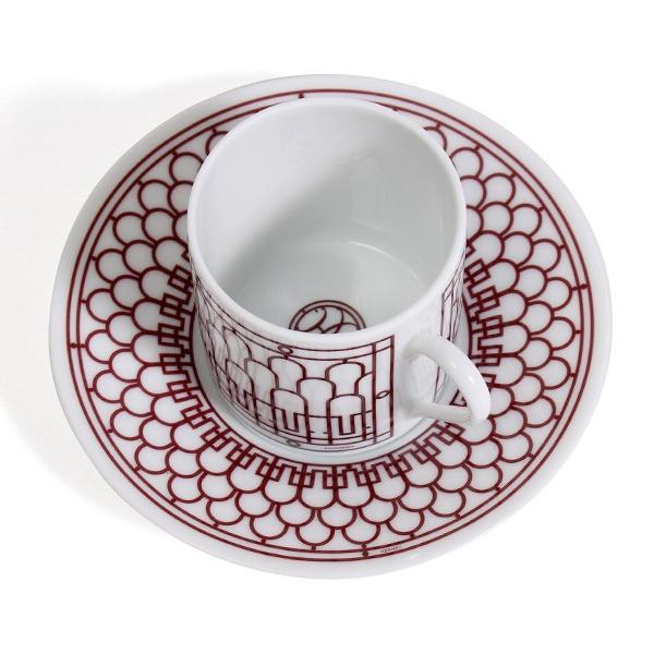 エルメス アッシュデコ ルージュ コーヒーカップ&ソーサー ペア HERMES H Deco Rouge|ideale|04