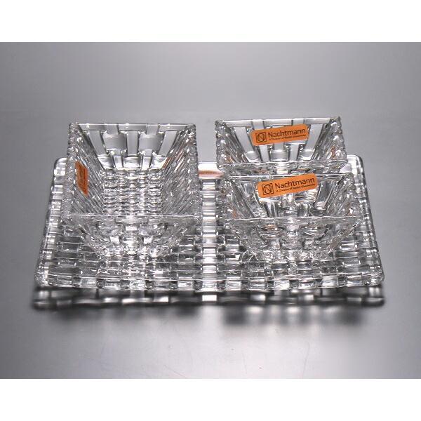 ナハトマン ボサノバ 97633 サービングセット(ボウル17cm×1/ディップボウル8.5cm×2/スクエアプレート21cm×1) Nachtmann Bossa nova ideale 06