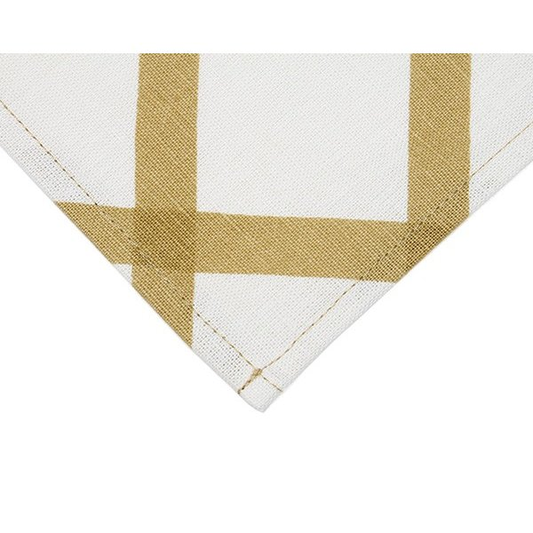 マリメッコ キルト ティータオル 1枚 ナチュラルホワイト/ゴールド marimekko QUILT [ネコポス対応可(4枚まで)]|ideale|03