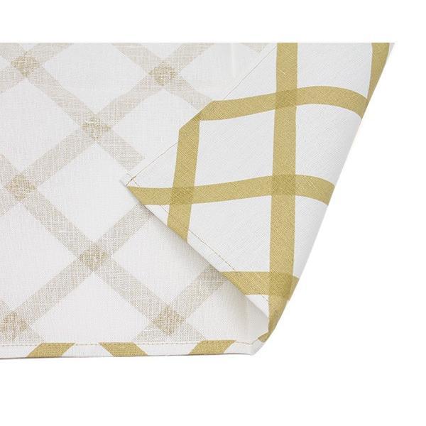 マリメッコ キルト ティータオル 1枚 ナチュラルホワイト/ゴールド marimekko QUILT [ネコポス対応可(4枚まで)]|ideale|04