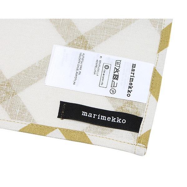 マリメッコ キルト ティータオル 1枚 ナチュラルホワイト/ゴールド marimekko QUILT [ネコポス対応可(4枚まで)]|ideale|05