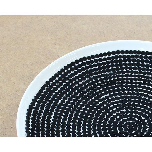 マリメッコ ラシィマット プレート 25cm ホワイト/ブラック marimekko RASYMATTO|ideale|04