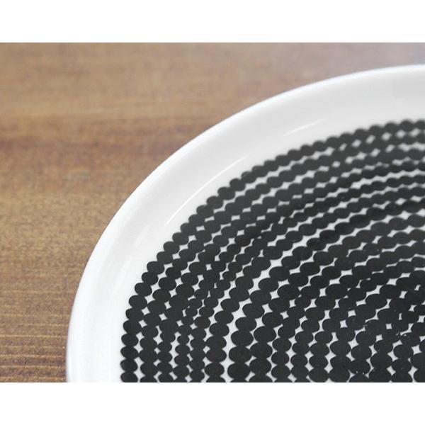 マリメッコ ラシィマット プレート 13.5cm ホワイト/ブラック marimekko RASYMATTO|ideale|04