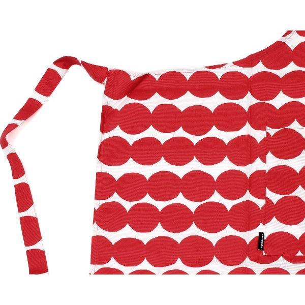 マリメッコ ラシィマット エプロン 85×84cm ホワイト/レッド marimekko RASYMATTO [ネコポス対応可(2枚まで)] ideale 04