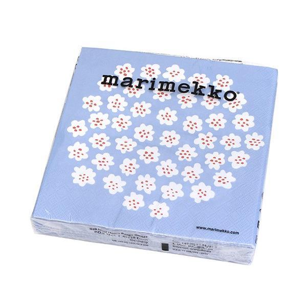 マリメッコ ペーパーナプキン プケッティ ライトブルー 33x33cm 20枚入り 575749 marimekko PUKETTI|ideale