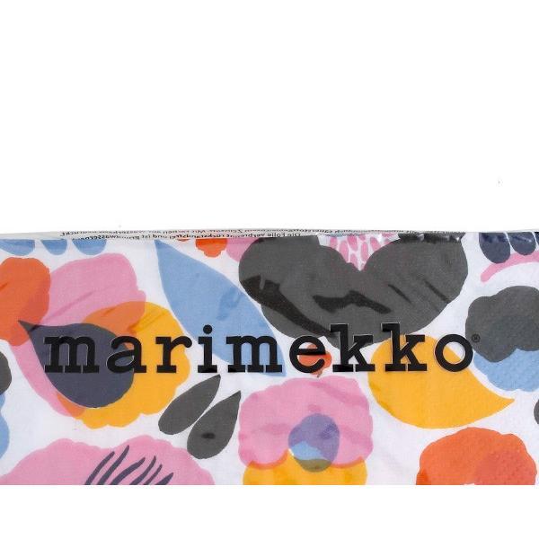エントリーで全品ポイント15倍! マリメッコ ペーパーナプキン ハッタラクッカ ホワイト 33x33cm 20枚入り 594190 marimekko HATTARAKUKKA|ideale|03