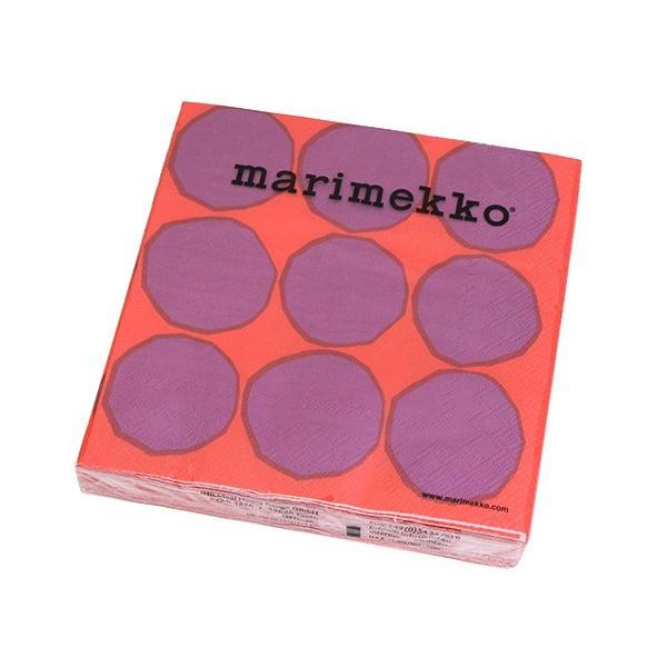 マリメッコ ペーパーナプキン キヴェット レッド 33x33cm 20枚入り 606410 marimekko KIVET|ideale