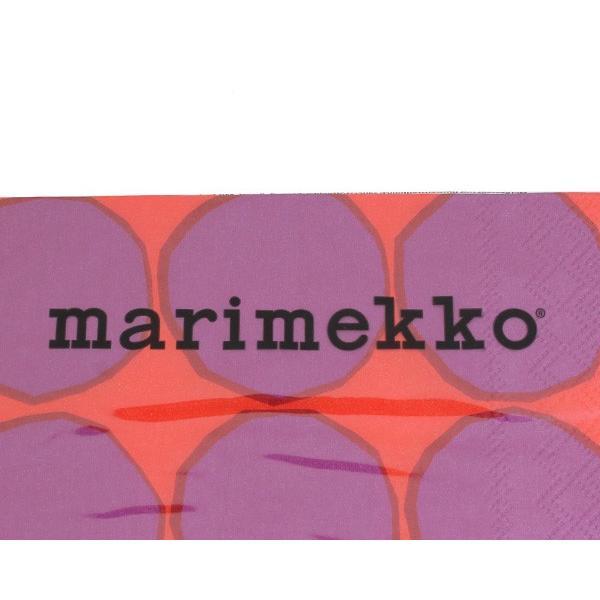 マリメッコ ペーパーナプキン キヴェット レッド 33x33cm 20枚入り 606410 marimekko KIVET|ideale|03