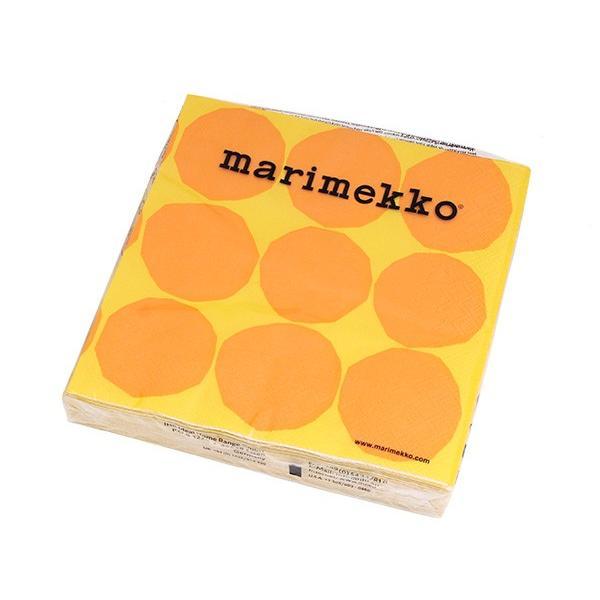 マリメッコ ペーパーナプキン キヴェット イエロー 33x33cm 20枚入り 606470 marimekko KIVET|ideale