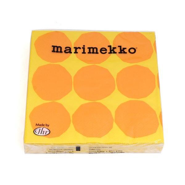 マリメッコ ペーパーナプキン キヴェット イエロー 33x33cm 20枚入り 606470 marimekko KIVET|ideale|02