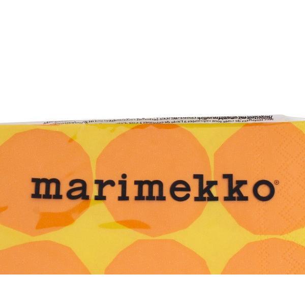 マリメッコ ペーパーナプキン キヴェット イエロー 33x33cm 20枚入り 606470 marimekko KIVET|ideale|03